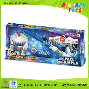 New kids super cool space set with light and sound flash sword sound gun