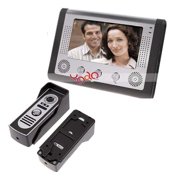 "Cheap 7"" One-to-One Color Display Smart Wired Video Door Phone Doorbell"