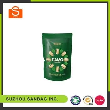 Custom printed plastic laminated food,rice,coffee,tea paper ziplock stand up bag
