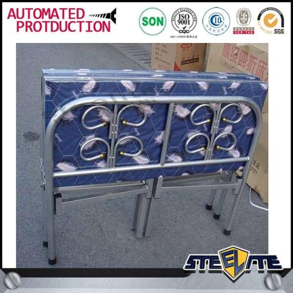 现代廉价折叠单床设计/金属床架/折叠床价格