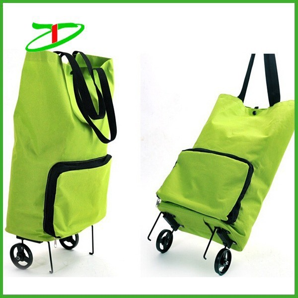 c2384778add Wholesale Foldable Nylon Shopping Trolley Bag With Wheel, Grocery ...