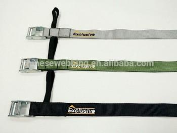 定制时尚耐用绣花包装带/包装带可调金属扣