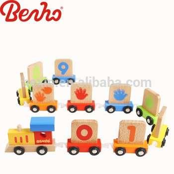 批发教育火车儿童木制玩具车