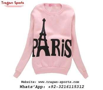妇女运动衫巴黎埃菲尔铁塔休闲套衫帽衫外套