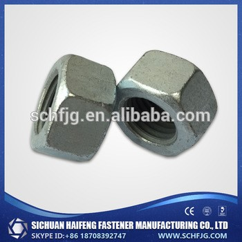 厂家直销价格低质量高标准galvainzed六角头螺母在中国西南