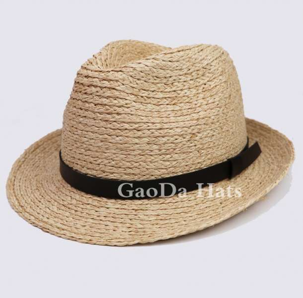fe16a90f Wholesale Custom Logo Band Straw Fedora Hat