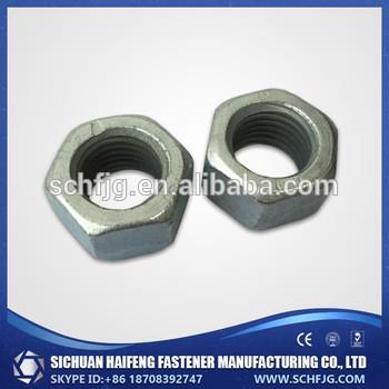 厂家直销的低价格高质量镀锌六角头螺母在中国西南