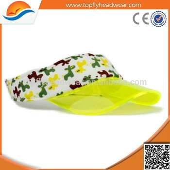 Transparent PVC Bill Visor Cap Clear Fashion Sun Visor UV Protection Plastic  Visor c3b3109c5696