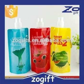 zogift批发无BPA的折叠水壶480ml折叠水瓶折叠水杯