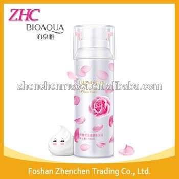 bioaqua玫瑰洁面摩丝泡沫保湿护肤深层清洁保湿收缩毛孔洗面奶