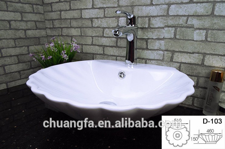 Ceramic White Shell Shaped Bathroom Sink Manufacturer - Bathroom sink companies