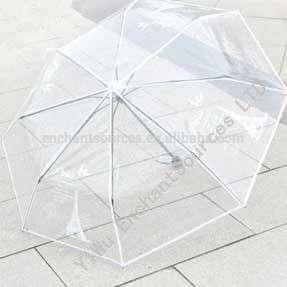 促销透明折叠伞