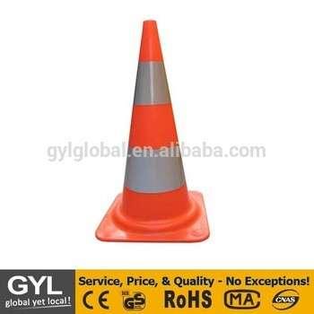 道路安全带反光带的红色PVC交通锥
