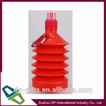 500ml折叠水壶,收缩,无BPA的塑料