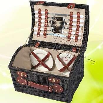 天然手工柳编野餐篮