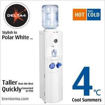 三角洲4(wcbhd4)极地白色瓶装冷却器冷热饮水机