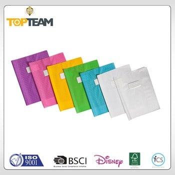 中国工厂PVC软封面印刷学校塑料运动书皮