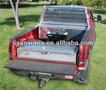 2013大畅销金刚石板铝工具盒,领先的卡车配件制造商OEM铝钻石板盒