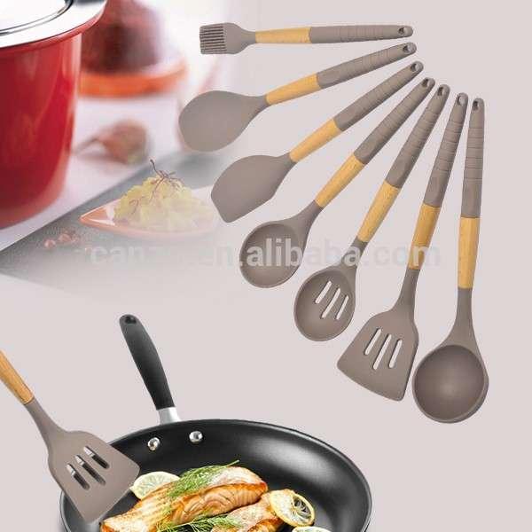 FDA LFGB食品级硅胶厨房用具批发个性化设置现代烘焙烹饪工具销售最好的产品