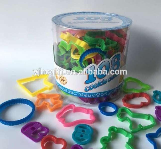 亚马逊热销项目108pcs塑料饼干/饼干切割器