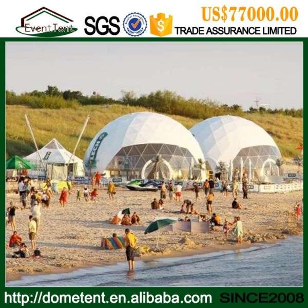 aluminum frame round party tent, Diameter 5 m aluminium geodesic dome tent for sale
