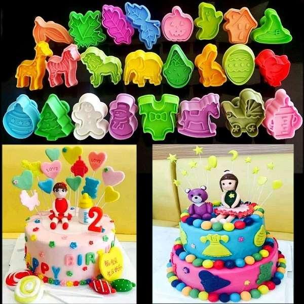 24式/动物春季塑料圣诞蛋糕工具翻糖蛋糕装饰sugarcraft工具饼干饼干
