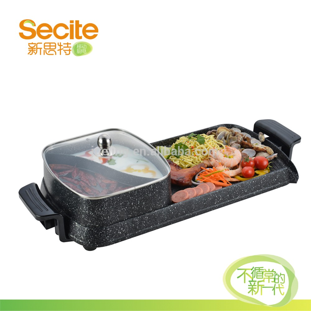 Rectangular Ceramic Marble Non Stick bbq Electric Grill Griddle