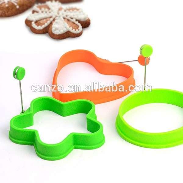 3pc食品级硅胶煎蛋模具环厨房蛋工具