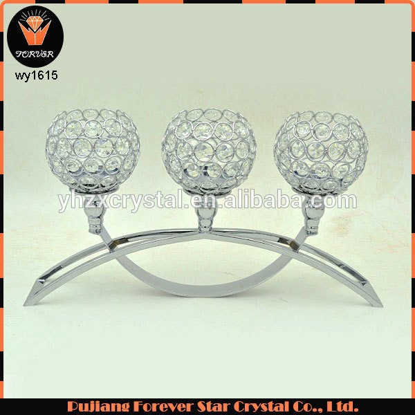Wholesale Wedding Centerpieces Metal Crystal Candelabra Candle