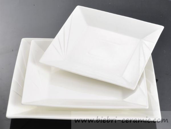 Wholesale Ceramy Milk White Simple Design Modern Style Square Shaped ...