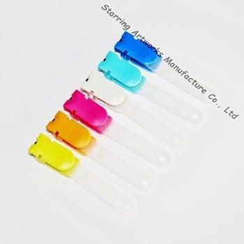 办公用品14mm×30mm乙烯塑料带徽章夹姓名身份证