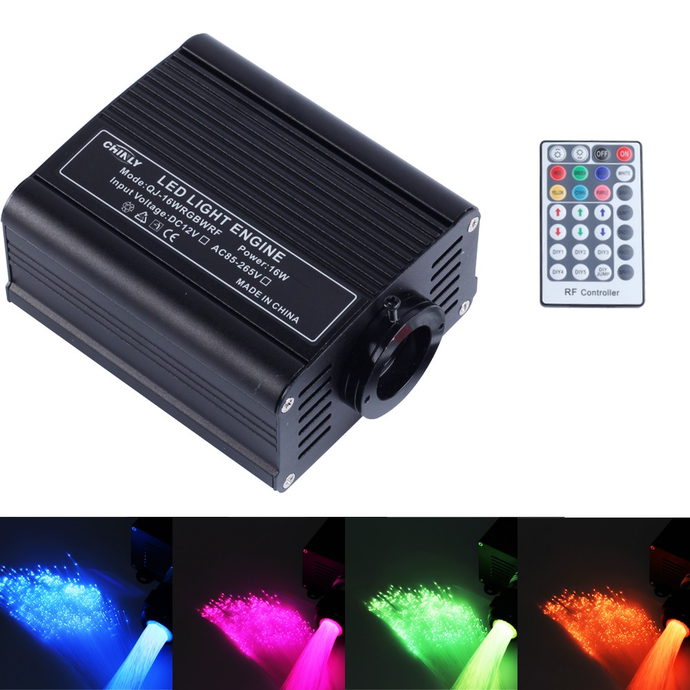 2017 fiber optic lights rgbw led optical fiber light kit with 150pcs