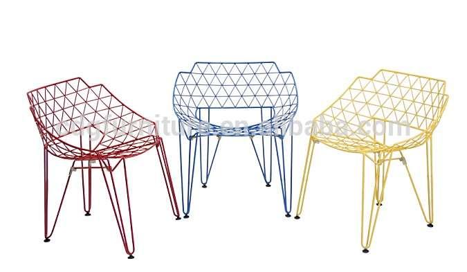 哈利Bertoia金属餐椅