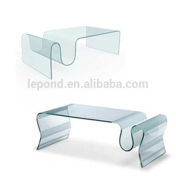 New Custom Room Decors Curved Tempered Bending Glass Hot