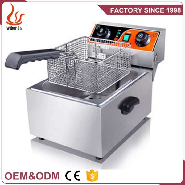 1 Basket Counter Top Industrial Stainless Steel Commercial Deep electric fryer single tank