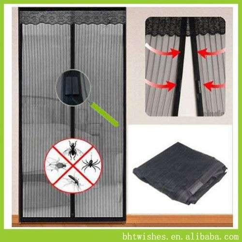 Velcro Curtain Door Screens ,BHT076 Size 100*210cm Mosquito Net Door Screen  Window