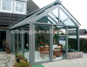 中国供应商抗飓风12ft×10英尺定制花园玻璃阳光房的双折门