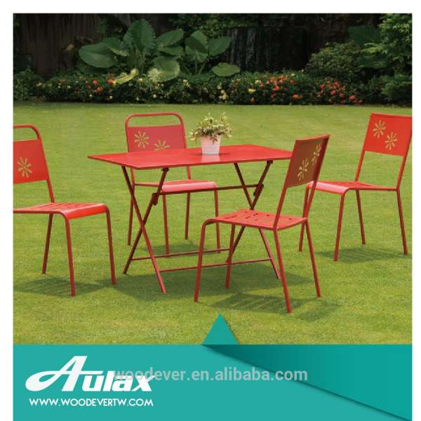 Galvanized Metal Outdoor Chairs Outdoor Furniture Dining Folding Bistro Set