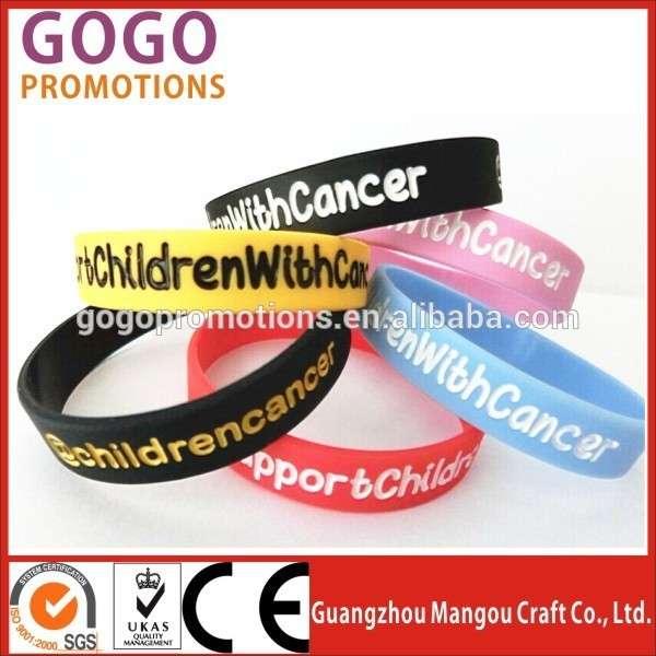 高质量的免费赠送LOGO印刷硅带的时尚配件在中国价格最便宜的硅带为宣传