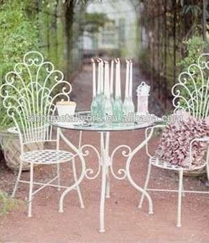 铁艺桌椅现代家庭及花园家具铁艺金属茶几和椅子