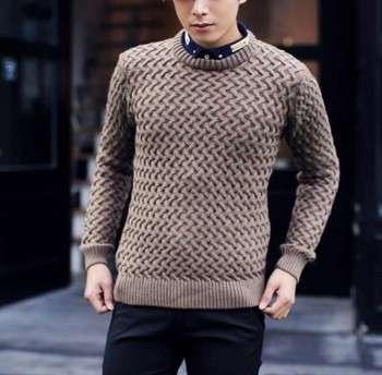 Zm52411a Korean Sweater Knitting Pattern Pullovers Men Sweater