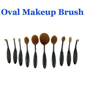 椭圆形化妆刷,美容粉底化妆刷工具