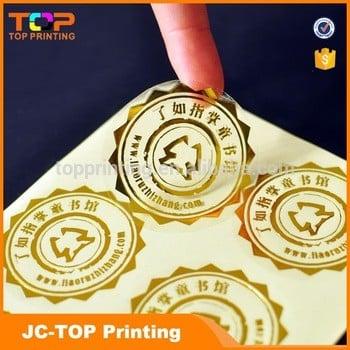定制金箔烫印透明乙烯基标签贴纸