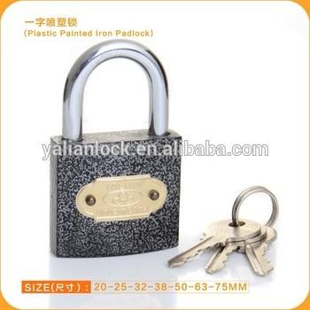 2015 dubai market hot sale plastic coated iron padlock in all size