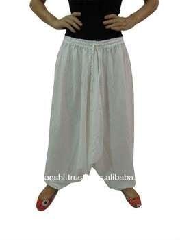 白人男子的后宫裤子宽松宽松棉渔夫瑜伽博霍绳舞裤