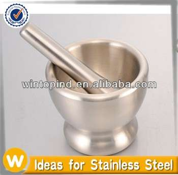Stainless steel mortar and pestle set,Garlic Press