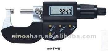 """480-510b 0-50mm / 1-2 """";x 0.001 / 0.00005 """";四个按钮的电子数显外径千分尺"""