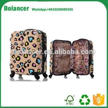中国式设计ABS印刷机手推车行李袋
