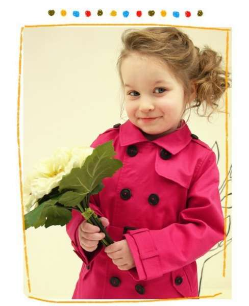 2015 Fall Childrens Boutique Clothing Red Trench Coat For Wholesale