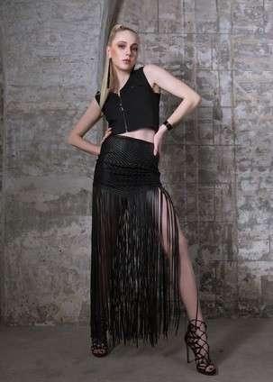 条纹的裙子
